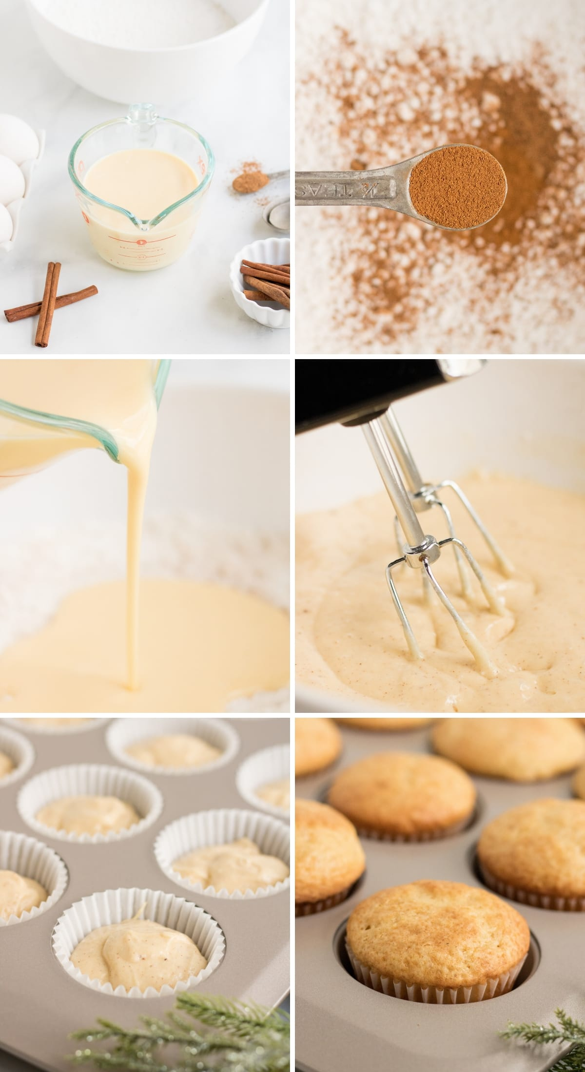 eggnog cupcake tutorial photos step by step