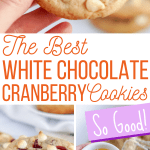 the best white chocolate cranberry cookie recipe pins