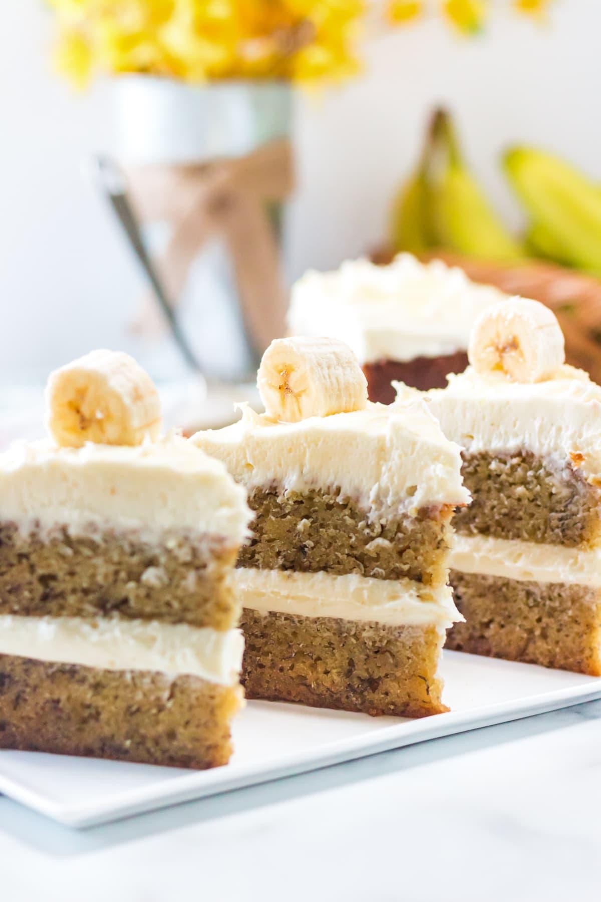 banana cake with cream cheese banana cream filling