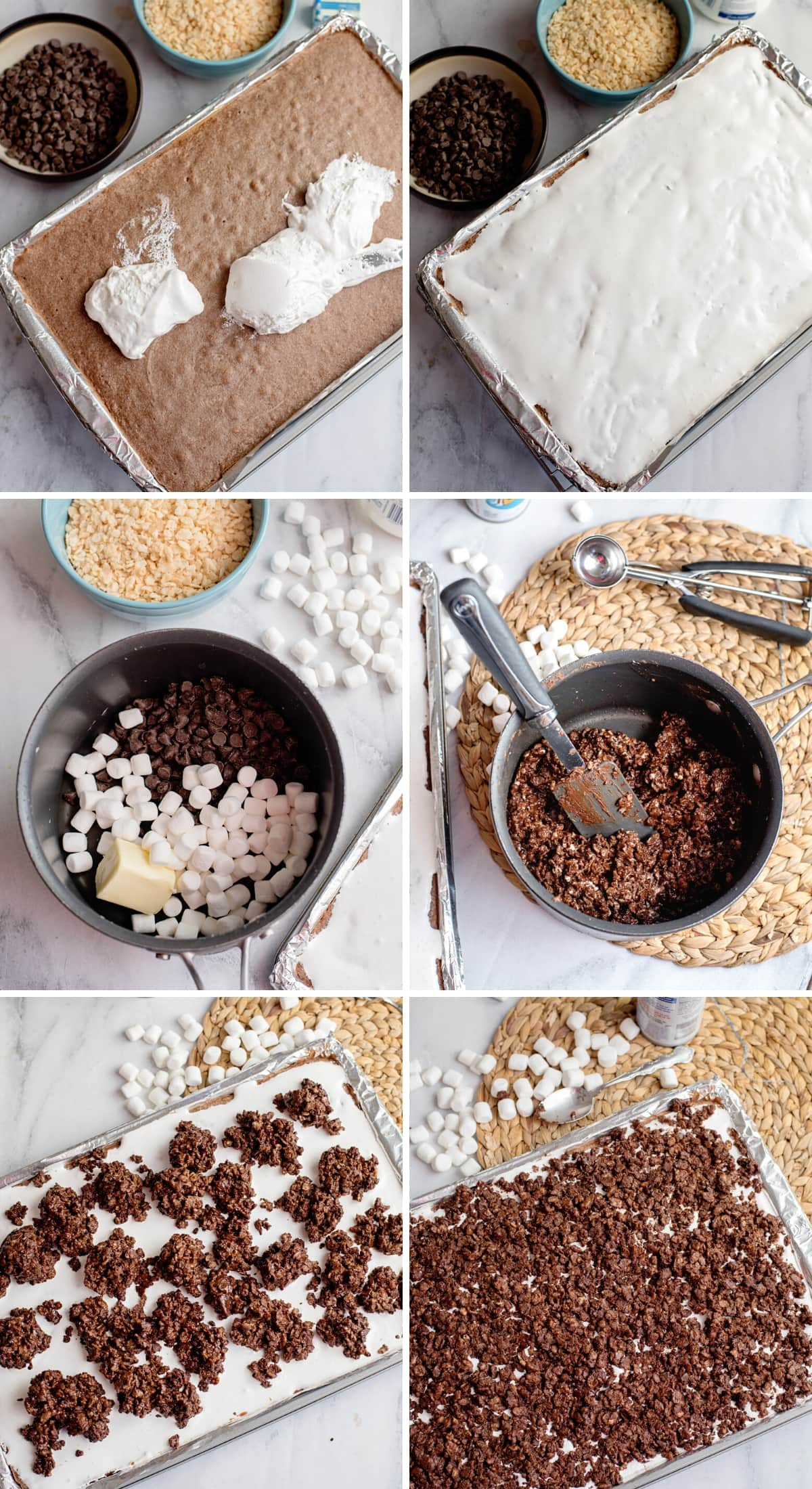 deluxe chocolate marshmallow bar step by step