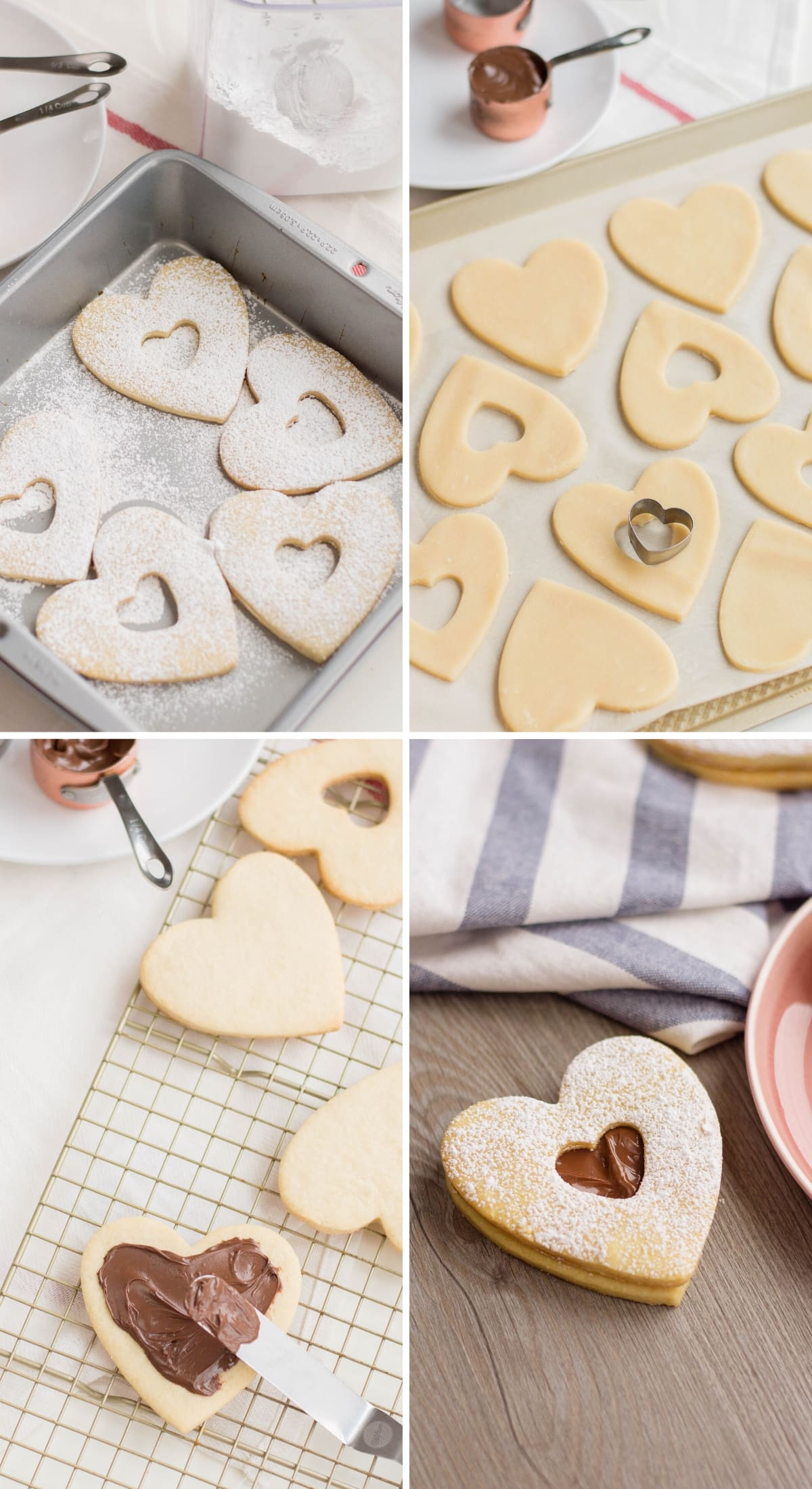 making nutella filled cookies step by step