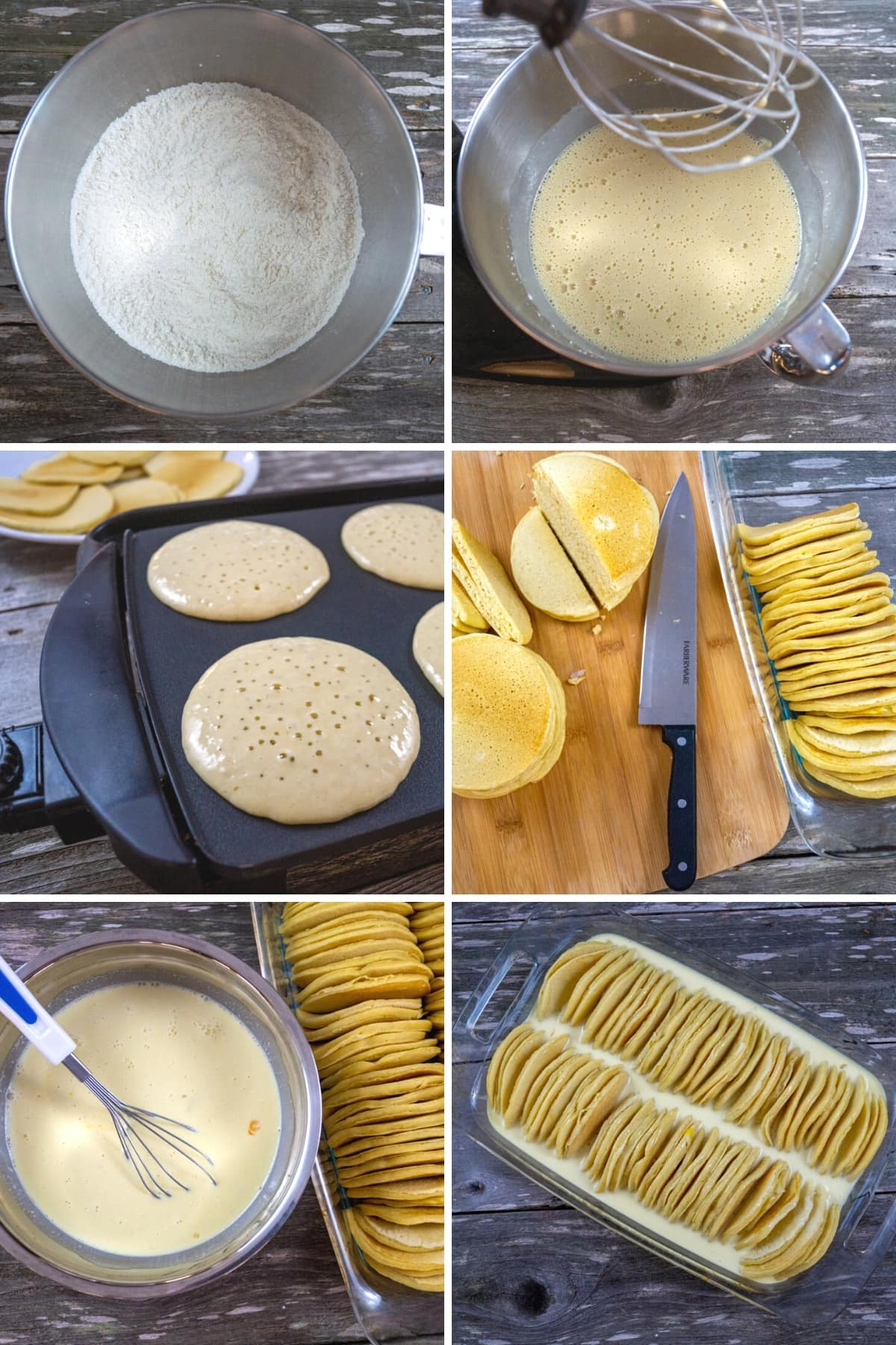 step by step instructions to make pancake casserole