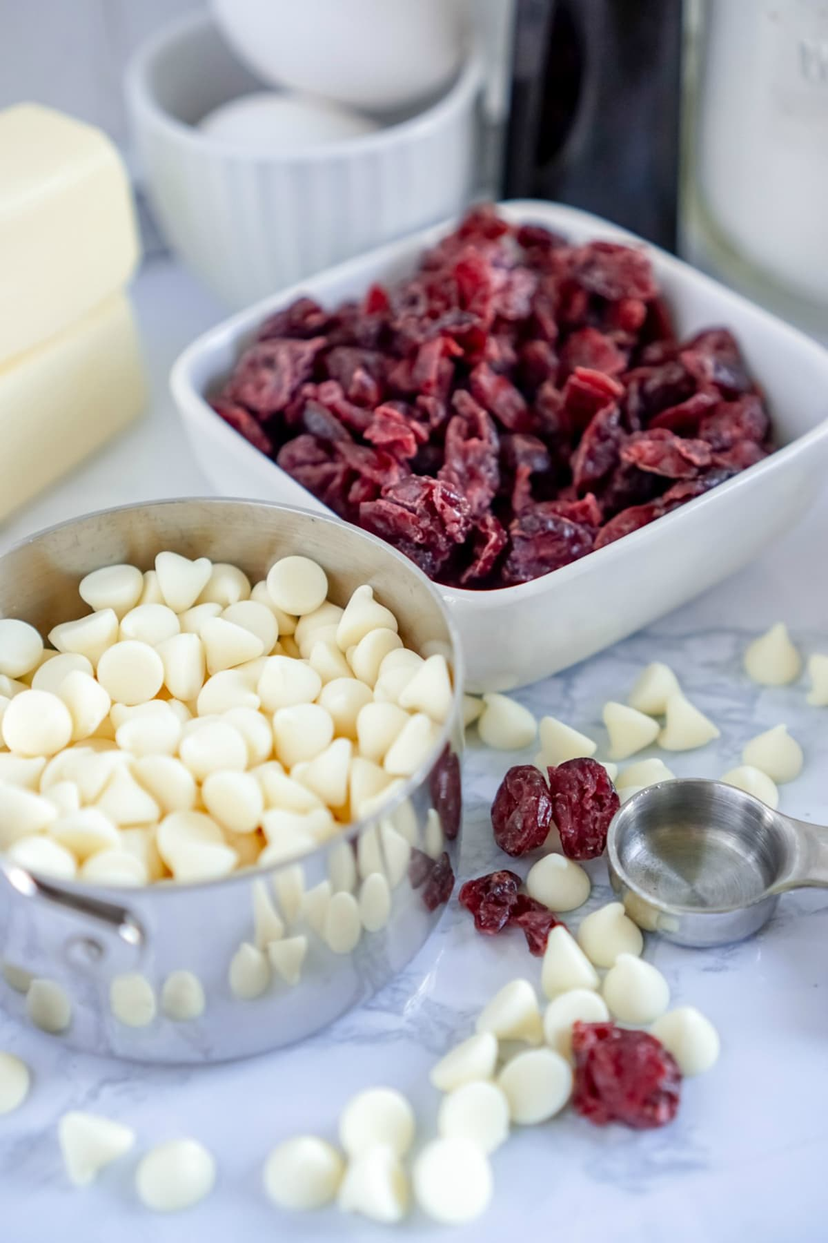 white chocolate cranberry cookie ingredients