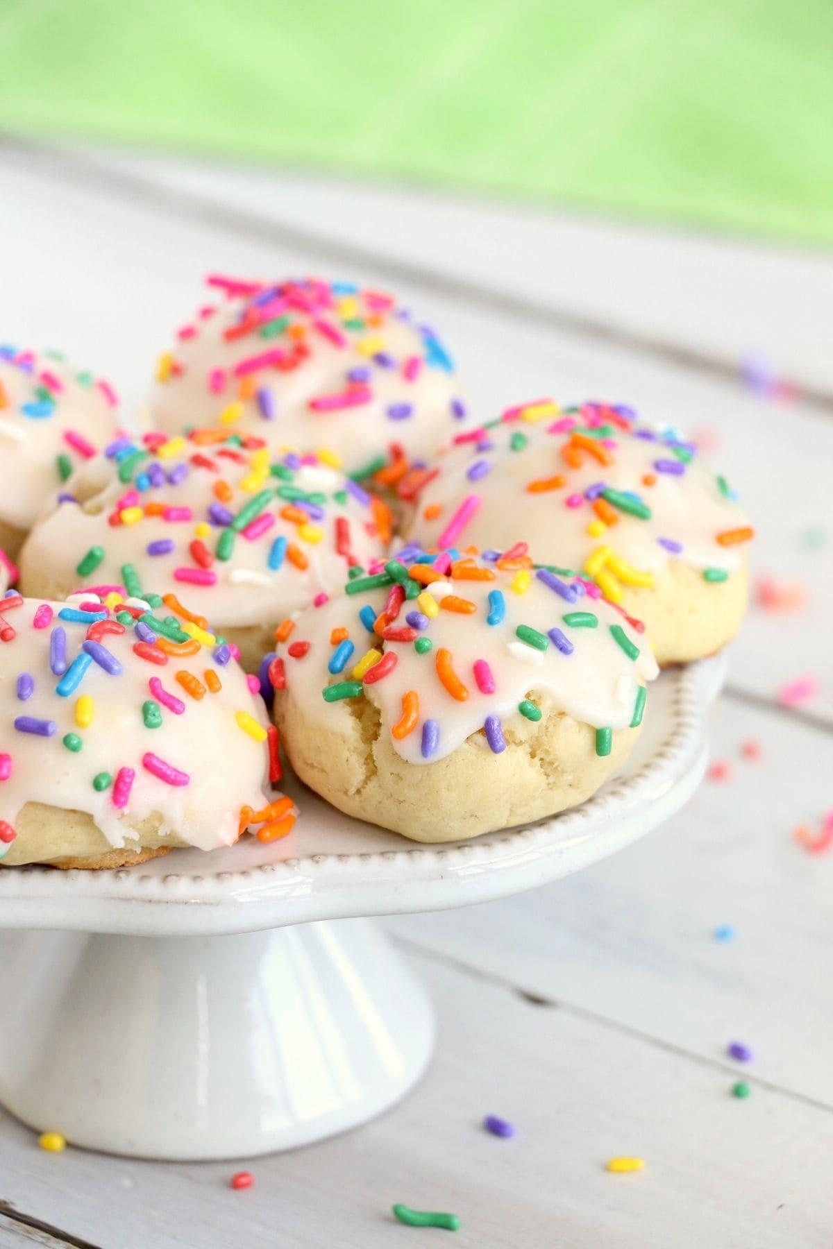 confetti rainbow cookies